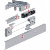 Комплект для опорных телескопических откатных ворот до 4 м
