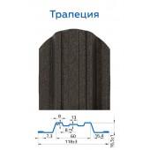 Металлический штакетник Трапеция